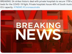 疫情更新:南澳新增11例确诊病患 全澳单日新增确诊人数降至193人..