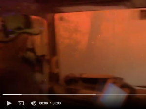 Firefighters survive after being trapped in burning fire truck during ..