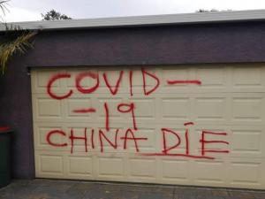 Racist coronavirus graffiti sprayed on Chinese-Australian family's..